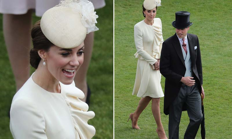 La Duquesa de Cambridge recicla uno de sus trajes icónicos para la emblemática fiesta del jardín del palacio de Buckingham