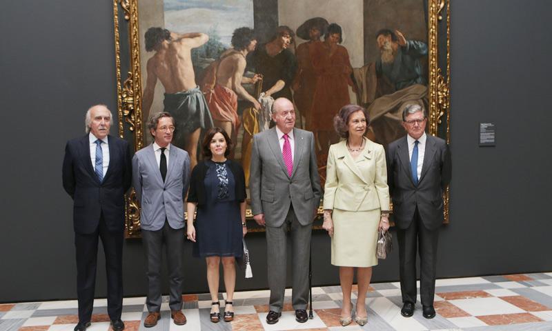 Caravaggio reúne a los reyes Juan Carlos y Sofía y en unos días Simeón de Bulgaria volverá a juntarles