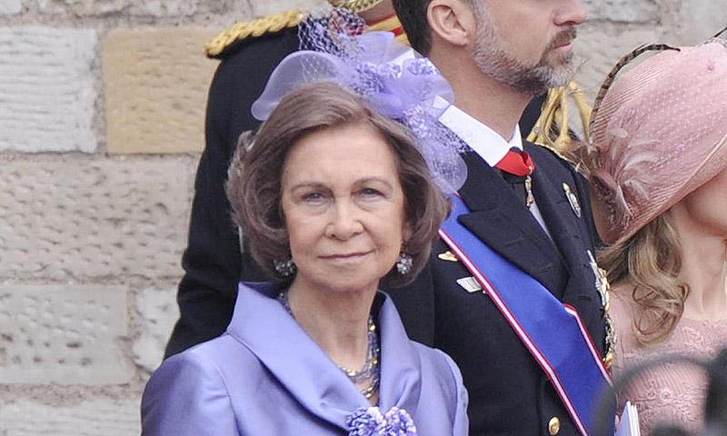 Importante presencia de la reina Sofía en 'la boda del año' en Reino Unido