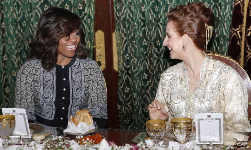 Salma de Marruecos obsequia a Michelle Obama y a Meryl Streep con un banquete de Ramadán