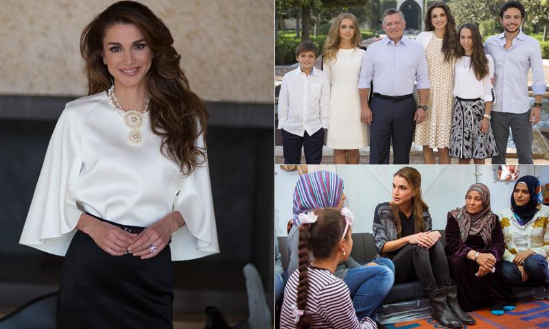 Fotogalería: Un año 'en los zapatos' de Rania de Jordania
