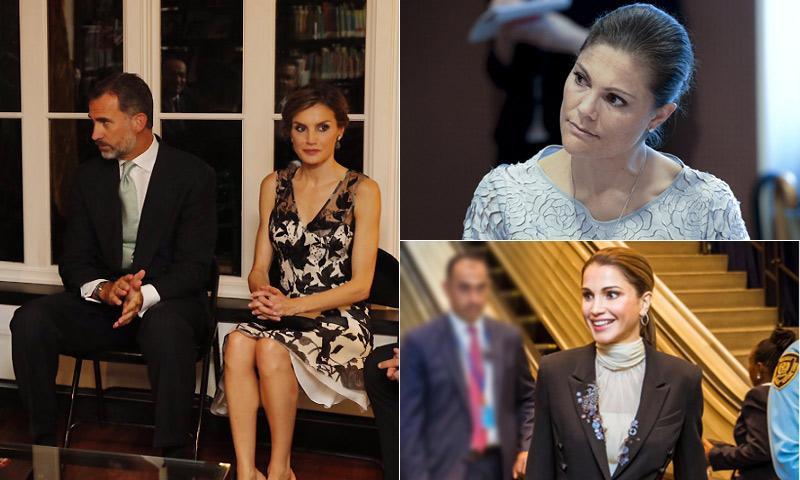Los Reyes, Rania de Jordania, Mary de Dinamarca, Victoria de Suecia: la realeza mundial desembarca en Nueva York