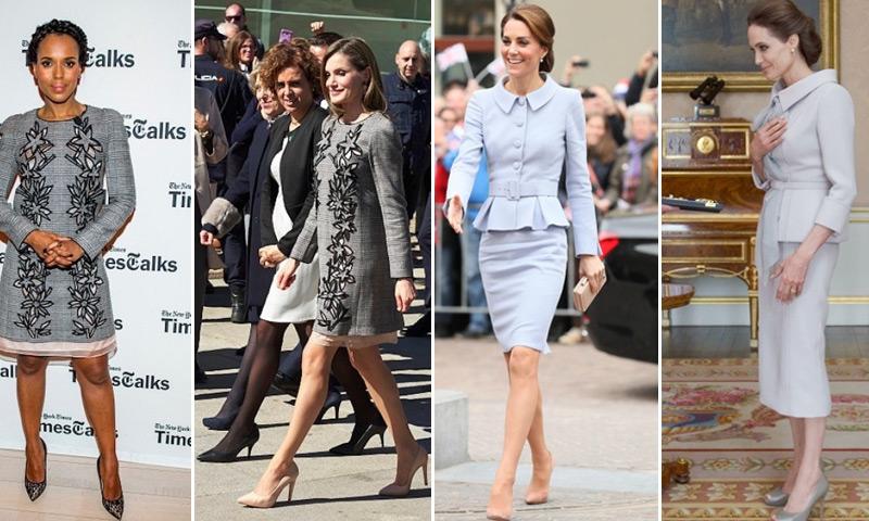 'Royals' y actrices comparten estilo: los mismos vestidos en su versión real y hollywoodiense