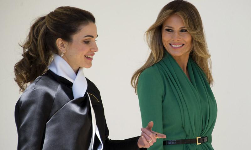 FOTOGALERÍA: Rania, ¡bienvenida a la Casa Blanca! Melania Trump se estrena ante la realeza