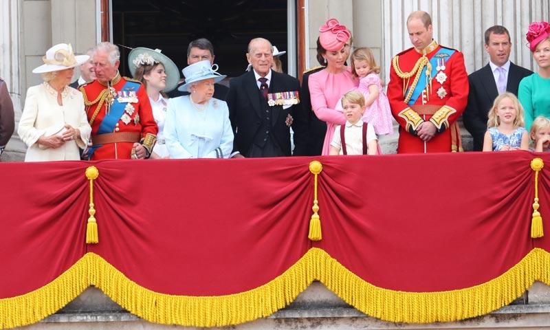Los pequeños de la casa real inglesa vuelven a ser los protagonistas del 'Trooping the Colour'