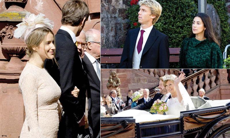 Unos futuros papás, unos novios en capilla... Los Hannover, de boda en boda