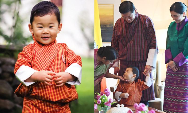 El Príncipe de Bután no ha cumplido dos años y ya está de viaje oficial… ¡rompiendo corazones!