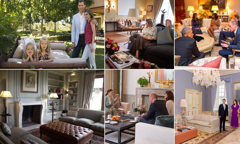 Entramos en los salones de estar de Palacio: Zarzuela, Kensington, Skaugum, Haga...