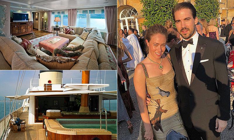 El Talitha, el fabuloso yate en el que navegan Felipe de Grecia y su novia, Nina Flohr