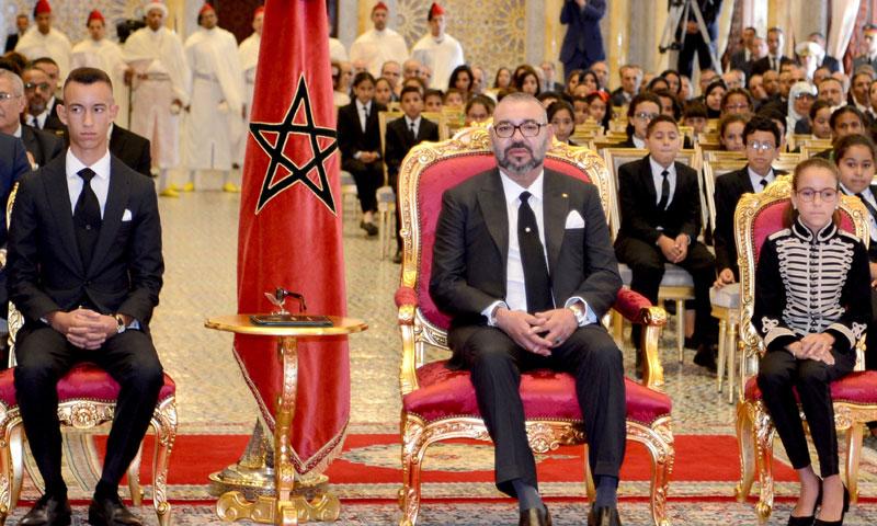 Khadija de Marruecos debuta en su primer acto oficial junto al Rey y el Heredero