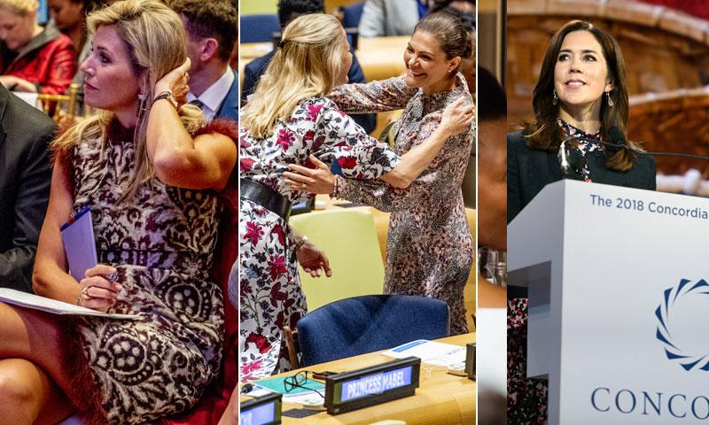 Máxima de Holanda, Victoria de Suecia, Mary de Dinamarca... cierran filas con la ONU en Nueva York