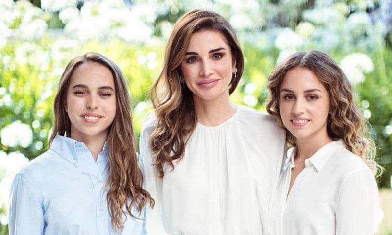 Rania de Jordania presume de sus hijas Iman y Salma, que celebran sus respectivos cumpleaños