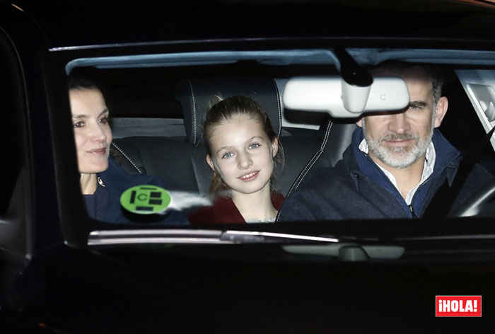 King Felipe VI, Queen Letizia and their daugters, Crown Princess Leonor and Infanta Sofia visited Jesus Ortiz