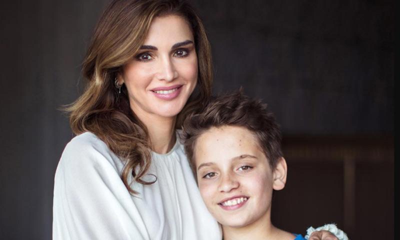 Las cariñosas felicitaciones de Rania de Jordania a dos de los hombres de su vida