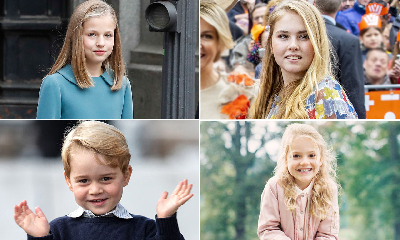 De la princesa Leonor a George de Cambridge: los niños que algún día serán reyes