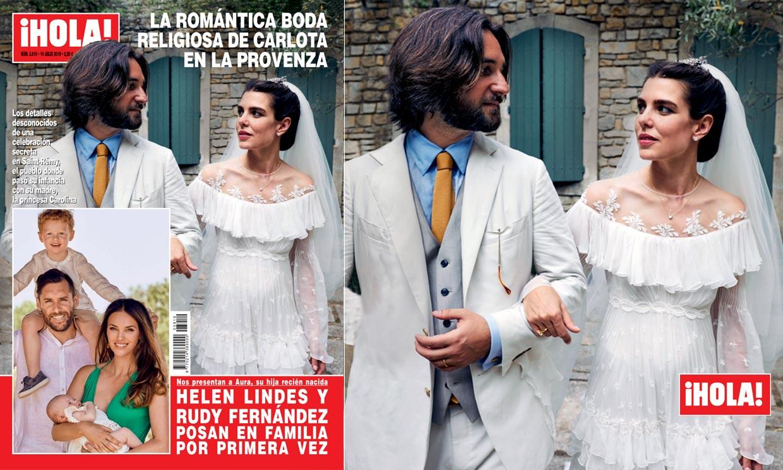 En ¡HOLA!, la romántica boda religiosa de Carlota en la Provenza