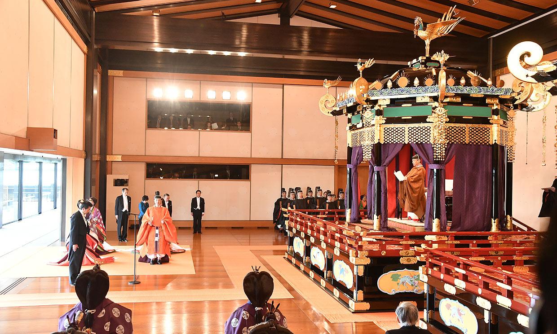 Los 'royals' llegan al banquete de la corte en el Palacio Imperial de Japón