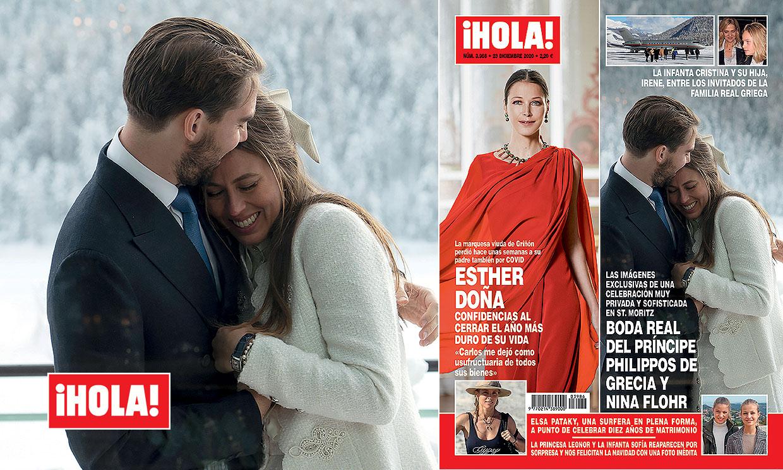 Imágenes exclusivas en ¡HOLA!, boda real del príncipe Philippos de Grecia y Nina Flohr