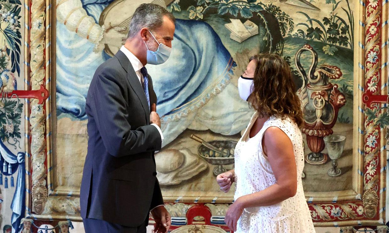 El Rey recibe en audiencia a las autoridades de Baleares en el Palacio de la Almudaina