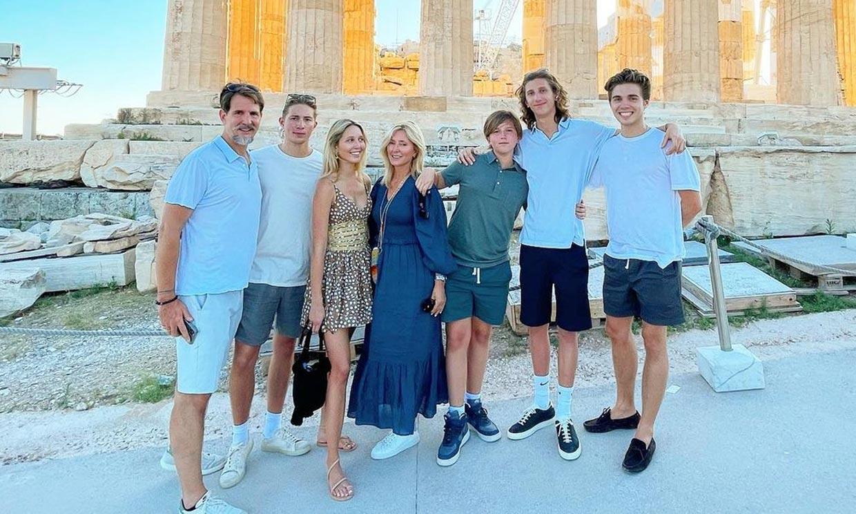 Marie Chantal de Grecia ya está en Atenas para la boda real
