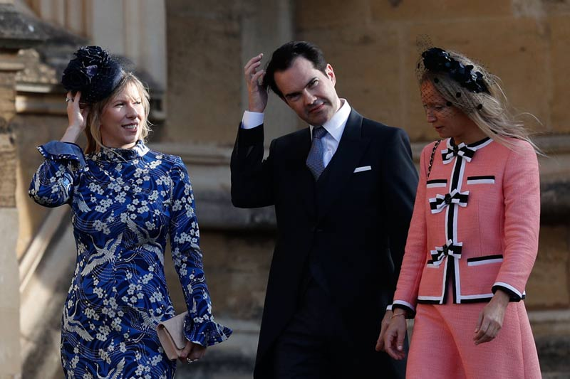 Jimmy Carr y Karoline Copping