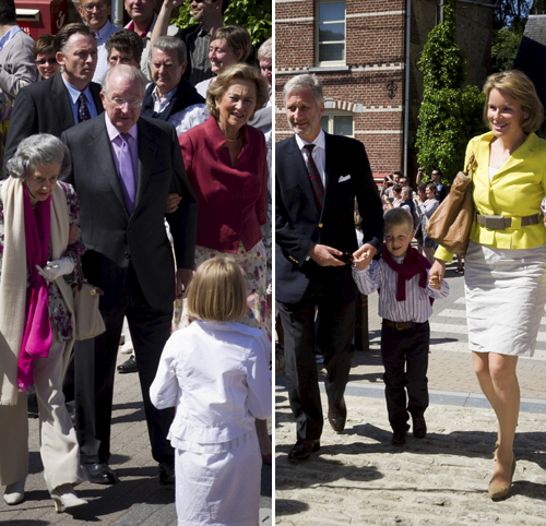 La Primera Comunión de la princesa Louise reúne a toda la Familia Real belga