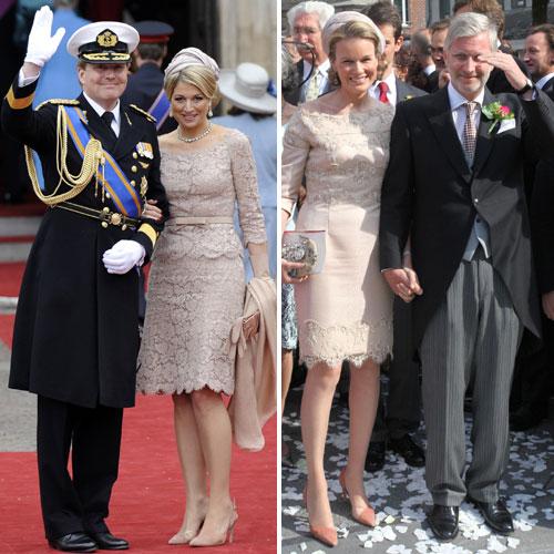 Matilde de Bélgica se inspira en el 'look' de Máxima de Holanda para asistir a la boda de su hermana, la condesa Helene d´Udekem d´Acoz con el barón Nicolás Janssen