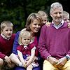 Las divertidas imágenes de Felipe y Matilde de Bélgica acompañados de sus hijos Elisabeth, Gabriel, Emmanuel y Eleonor