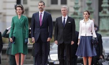Don Felipe y doña Letizia 'muestran sus condolencias a los Reyes de los belgas por la muerte de la reina Fabiola'