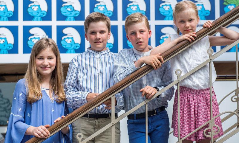 El original posado de verano de la Familia Real belga