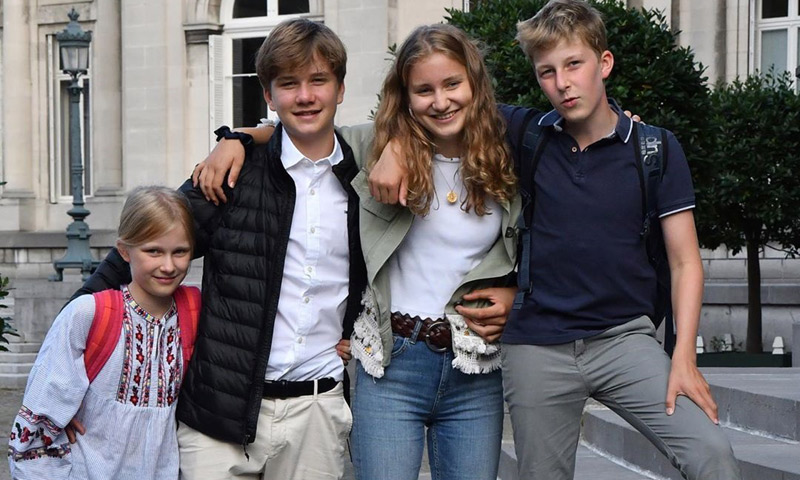 Empieza septiembre... ¡y el colegio! Así ha sido el primer día de los hijos de los reyes de Bélgica