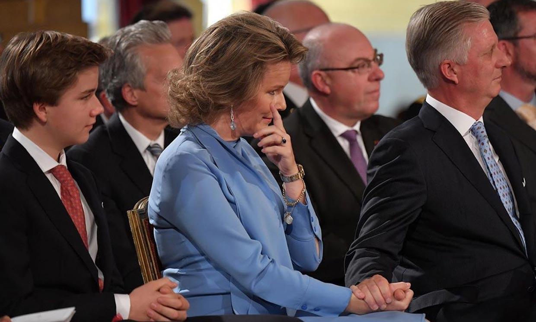 Felipe y Matilde de Bélgica, a punto de saltarse el protocolo por culpa de su hija