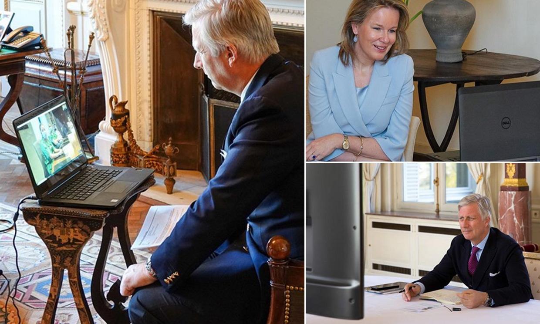 Cómo Felipe y Matilde de los belgas han adaptado sus despachos a las actuales circunstancias