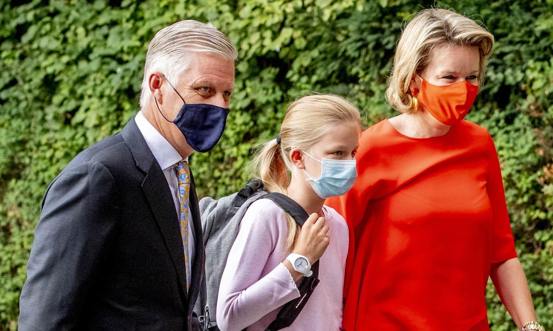 Éléonore de Bélgica, la primera de las 'royals' en volver al colegio