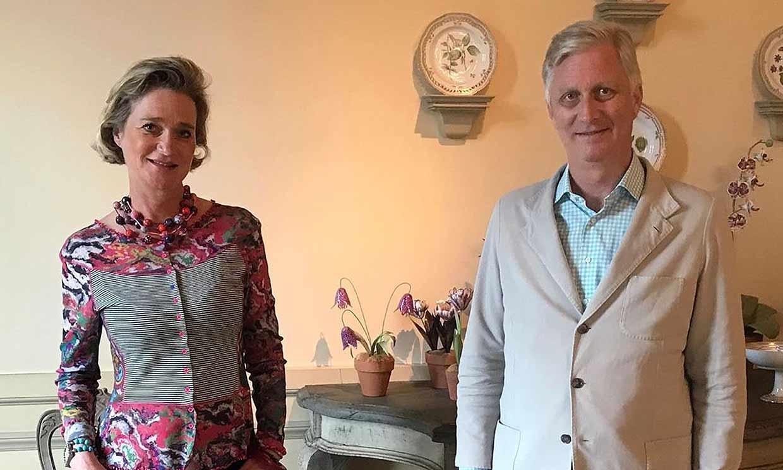Delphine Boël conoce a su hermano, Felipe de Bélgica, tras obtener el título de princesa