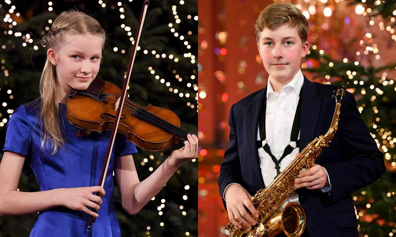 ¡Dos príncipes músicos! Emmanuel y Éléonore de Bélgica muestran su talento en el concierto de Navidad