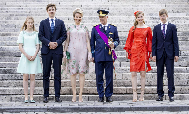 La Familia Real belga, con Elisabeth cada vez más protagonista, celebra el Día Nacional marcado por la pandemia