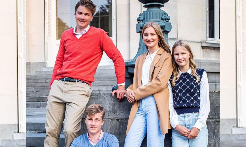 Muy cambiados y conjuntados: Elisabeth de Bélgica se despide de sus hermanos antes de irse a la universidad