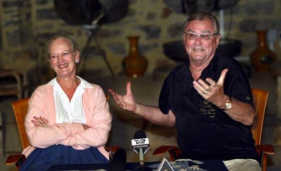 La reina Margarita elude hablar de compromiso en la tradicional rueda de prensa en Caix