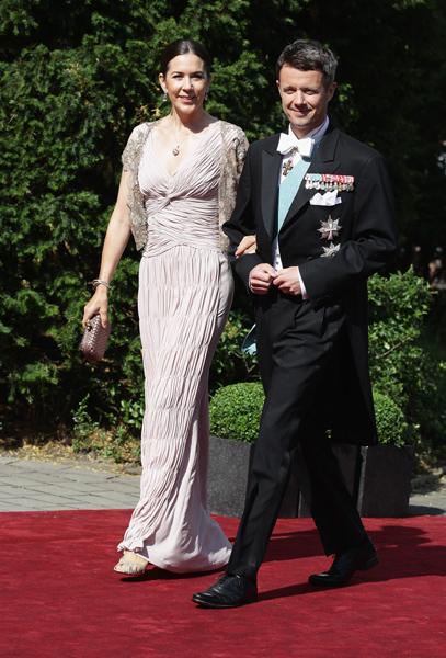 Os príncipes da Dinamarca e Federico Mary