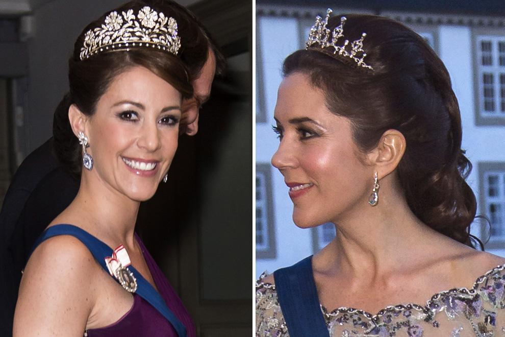 Las princesas Mary y Marie de Dinamarca 'rivalizan' en belleza durante una noche de gala