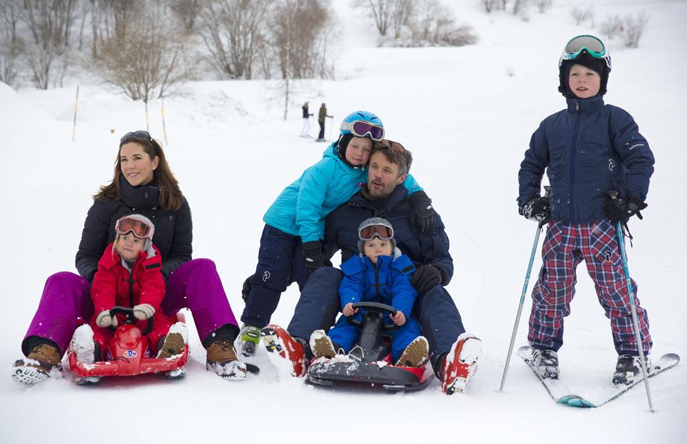 La Familia Real de Dinamarca: ¡Todos a la nieve!