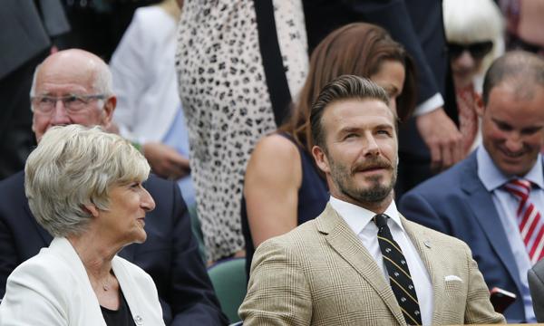 David Beckham y los padres de la duquesa de Cambridge tampoco se pierden el torneo de Wimbledon
