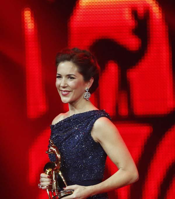 Mary de Dinamarca 'realza' los Premios Bambi 2014