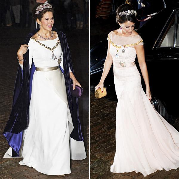 La Familia Real danesa recibe el Año Nuevo con un duelo de elegancia entre princesas