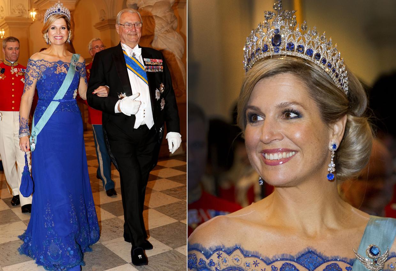 Máxima de Holanda vuelve a vestirse como toda una reina y repite el vestido de su coronación en Christianborg
