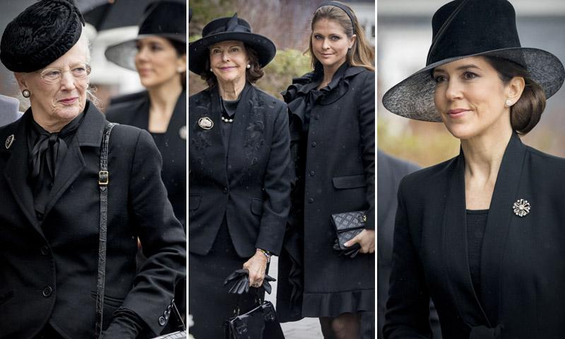 La gran familia de la realeza despide al príncipe Richard, marido de Benedicta de Dinamarca