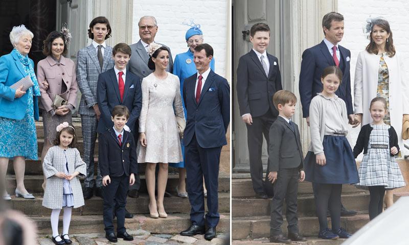La Familia Real danesa se reúne en la confirmación del príncipe Félix