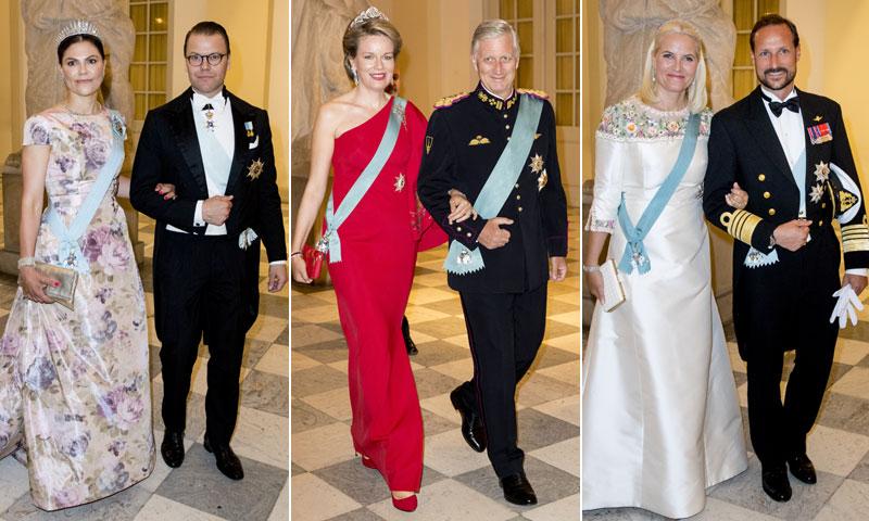 Desfile de princesas y reinas en la fiesta de largo por el cumpleaños de Federico de Dinamarca