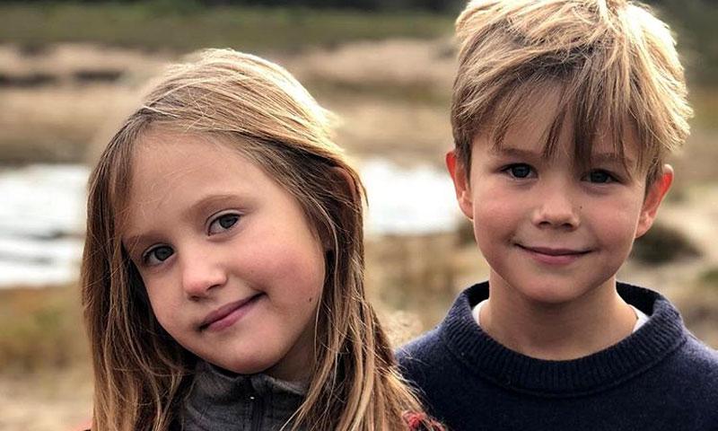 ¡La cámara les adora! Vincent y Josephine de Dinamarca posan como unos profesionales en su octavo cumpleaños
